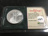 2001 Silver amber Eagle Dollar
