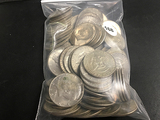 Lot of 90 1965-1969 Partial Silver Kennedy Halves