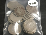 Lot of 24 Mixed Date V-Nickels