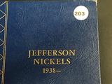 Book of 72 Jefferson Nickels 1938-1965 Including War Nickel