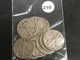 10x$ 1940's Liberty Half dollars