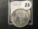 1880-S Morgan Dollar, AU