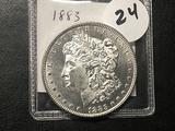 1883 Morgan Dollar, AU