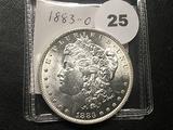 1883-O Morgan Dollar, AU