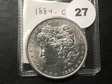 1884-O Morgan Dollar, AU