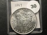 1887 Morgan Dollar, BU