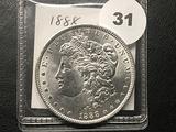 1888 Morgan Dollar, BU