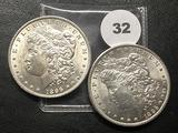 2x$ 1896 Morgan Dollars, BU