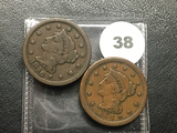 1846 & 1854 Large Cents
