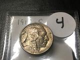 1913-S Buffalo Nickel Type I