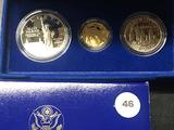 1986 3 pc. Liberty set with $5 Gold Liberty