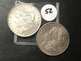 2x$ 1881-S, 1884-O Morgan Dollars