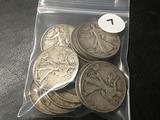 14x$ Walking Liberty Half Dollars