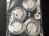 5x$ Buffalo Proof Silver Rounds