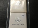 2x$ 1993, 1995, Silver Eagles (In Cases)