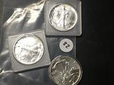 3x$1990, 92, 94 Silver Eagles
