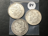 3x$ 1889,1891-S, 1897 Morgan Dollars