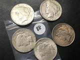 5x$ 1922, 1922-S Peace Dollars