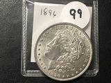 1896 Morgan Dollar, BU