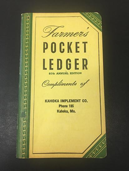 1953-54 Kahoka Implement Co Pocket Ledger, Excellent Unused Condition