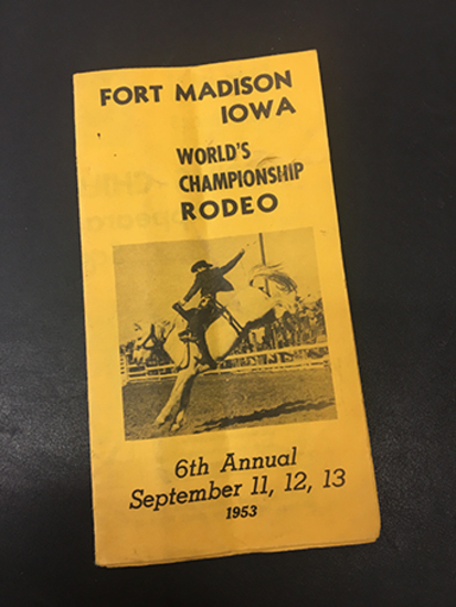 1953 6th Annual Fort Madison, Iowa Rodeo Poster, Excellent Condition