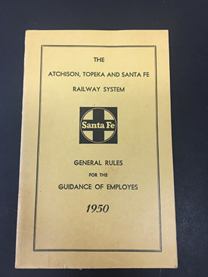 1950 Santa Fe General Rules, Good Condition