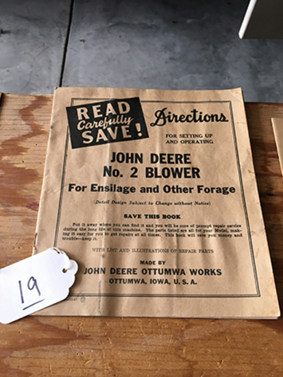 JD No 2 Blower Directions