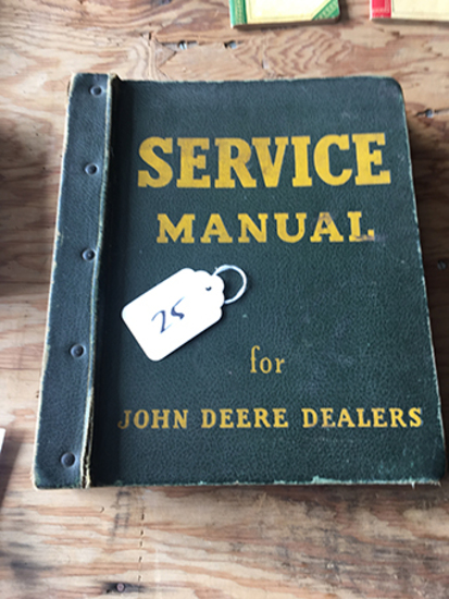 JD Dealers Service Manual, Tabbed - Blower Forage No 50, Models VE4, VF4 Wisconsin Air Cooled HD Eng