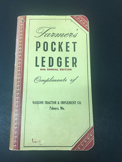 1950-51 Vaught Tractor & Implement Co, Palmyra, MO Pocket Ledger