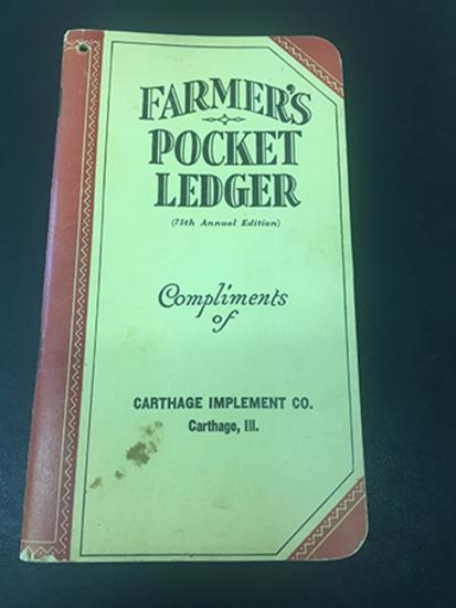 1941-42 Carthage Implement Co Carthage, IL Pocket Ledger