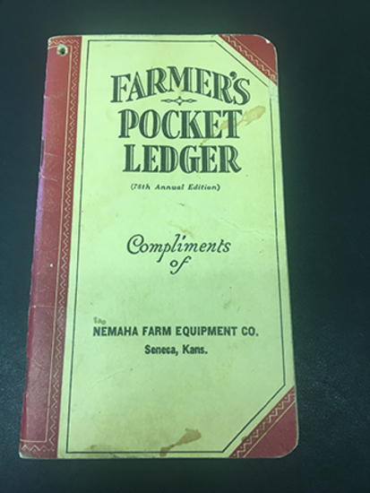 1944-45 Nemaha Farm Equipment Co Seneca, Kans., 4 Pages of Notes, Overall Good Condition