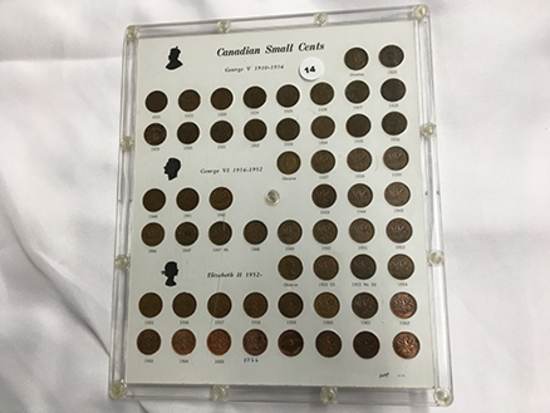 Complete Set Canadian Small Cents (1920-1970) includes key dates 1922, 1923
