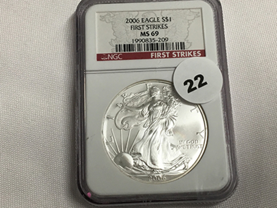 NGC Graded MS 69 2006 American Silver Eagle