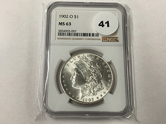 NGC Graded MS63 1902-O Morgan Dollar