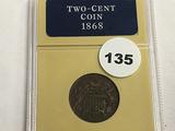 1868 2 Cent Piece