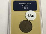 1869 2 Cent Piece