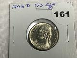1943-D War Nickel F/S Gem BU