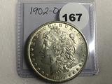1902-O Morgan Dollar Unc