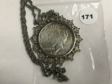 1922 Peace Dollar with Chain