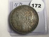 1879 Morgan Dollar (toning) AU