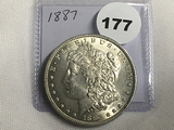 1887 Morgan Dollar Unc