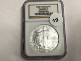 NGC Graded MS 69 2001 American Silver Eagle