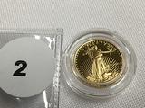 1991 1/10 oz $5 Gold Eagle Proof, Capsule (Roman Numeral)