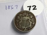 1867 Shield Nickel
