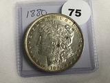 1880 Morgan Dollar AU