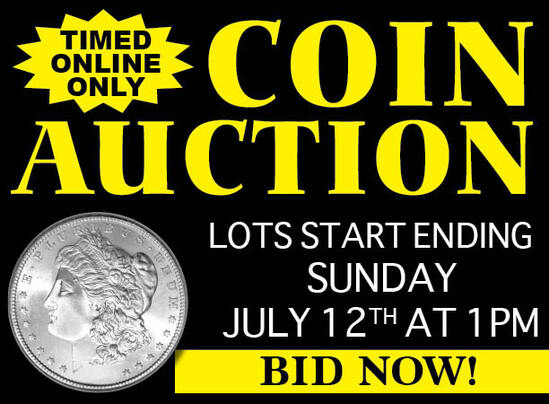 Timed Online Only Coin Auction