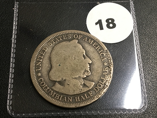 1893 Columbian expo half dollar coin