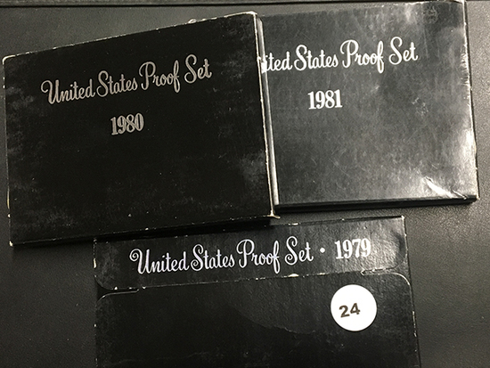 3 Proof sets 1979, 1980 & 1981