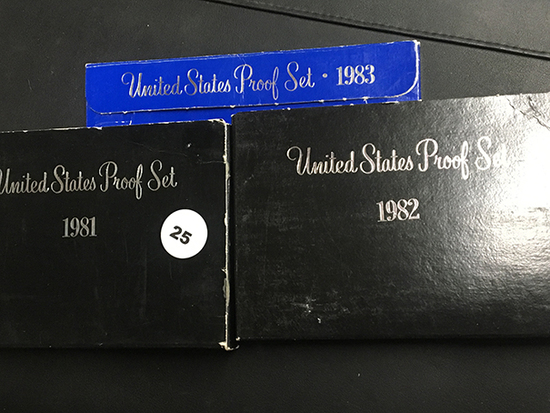 3 Proof sets 1981, 1982 & 1983