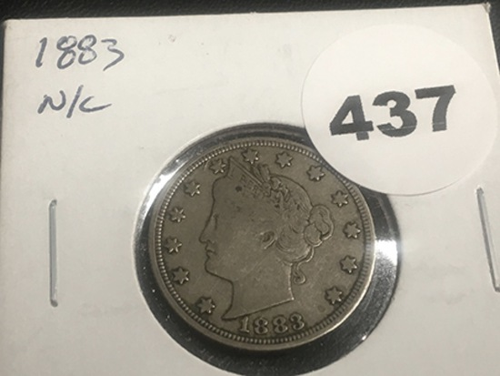 1883 N/C Liberty Nickel